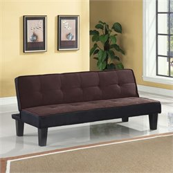 ACME Furniture Hamar Flannel Fabric Futon in Chocolate
