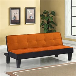 ACME Furniture Hamar Flannel Fabric Futon in Orange
