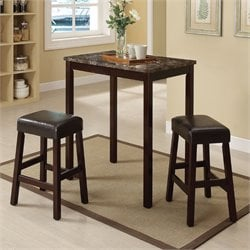 ACME Furniture Idris 3 Piece Pack Counter Height Set in Espresso