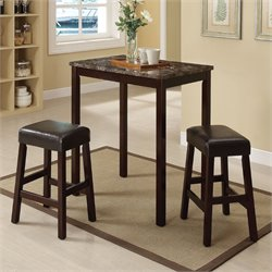 ACME Furniture Idris 3 Piece Counter Height Bistro Set in Espresso