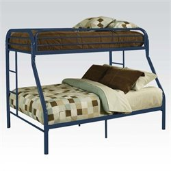 ACME Furniture Tritan Twin over Full Bunk Bed in Blue