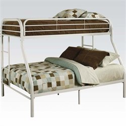 ACME Furniture Tritan Twin over Full Bunk Bed in White