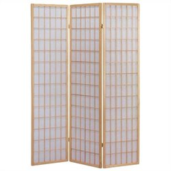 ACME Furniture Naomi 3 Panel Wooden Screen in Natural