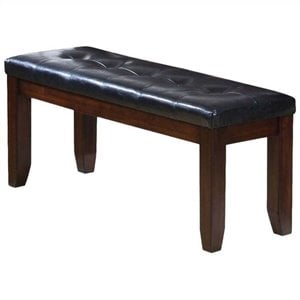 ACME Urban Faux Leather Dining Bench in Black and Cherry