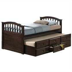 ACME Furniture San Marino Trundle Bed in Dark Walnut