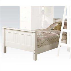 ACME Furniture Willoughby Lower Loft Twin Bed in White