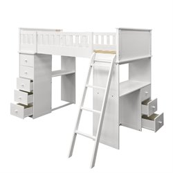 ACME Furniture Willoughby Loft Bed in White