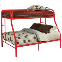 ACME Furniture Tritan Twin or Full Bunk Bed in Red