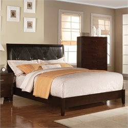 ACME Furniture Tyler Upholstered Bed in Cappuccino - Queen