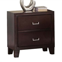 ACME Furniture Preston Nightstand in Cappuccino