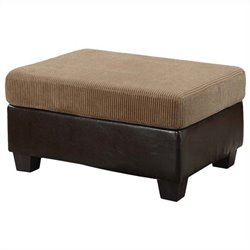 ACME Furniture Connell Ottoman in Light Brown and Espresso