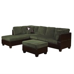 ACME Furniture Connell Sectional Sofa in Olive Gray