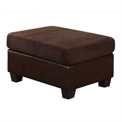 ACME Furniture Connell Ottoman in Chocolate and Espresso