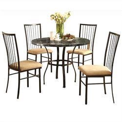ACME Furniture Darell 5 Piece Pack Dining Set in Black