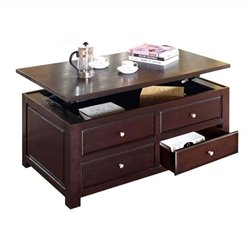 ACME Furniture Malden Lift Top  Coffee Table in Walnut