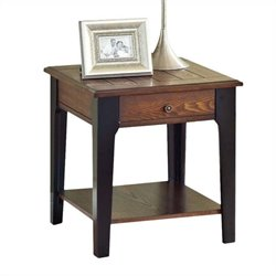 ACME Furniture Magus End Table in Brown Oak and Black