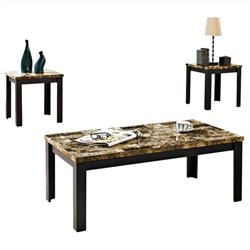 ACME Furniture Finely 3 Piece Table Set in Dark Brown