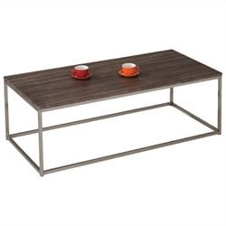 ACME Furniture Cecil Coffee Table in Walnut and Brushed Nickel