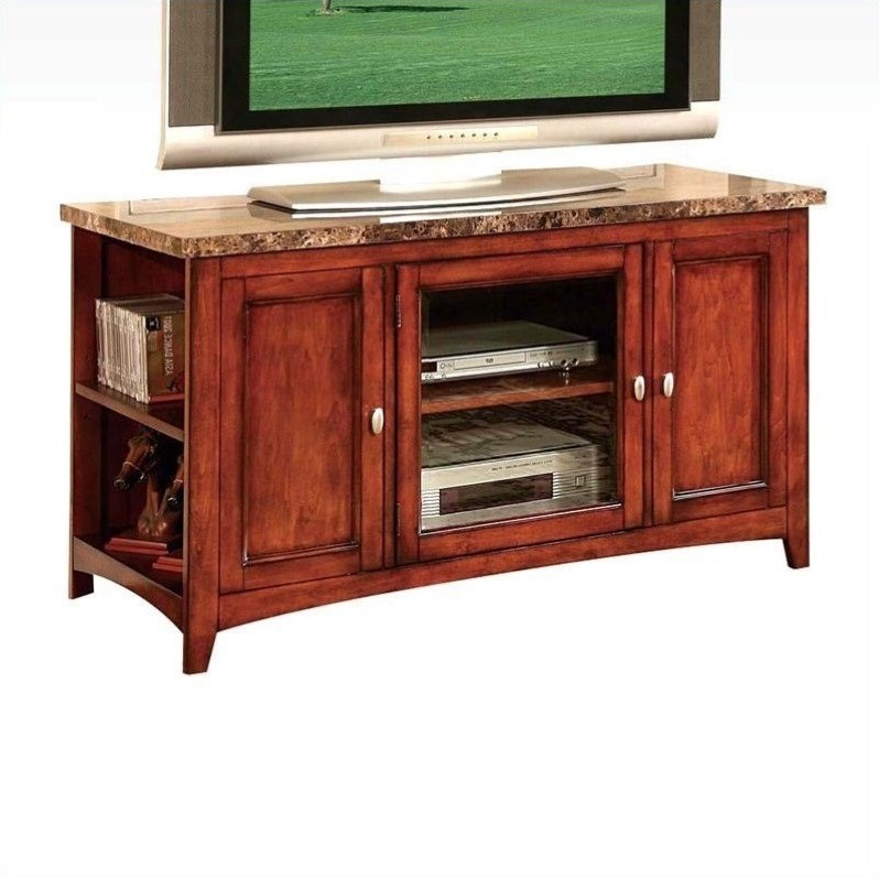 Acme Furniture Finely Tv Stand In Cherry