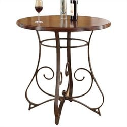 ACME Furniture Tavio Bar Table in Walnut and Dark Bronze