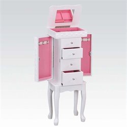 ACME Furniture Didi Jewelry Armoire in White
