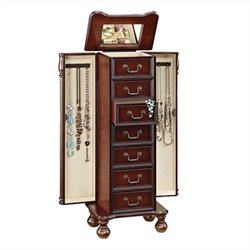 ACME Furniture Lopez Jewelry Armoire in Cherry