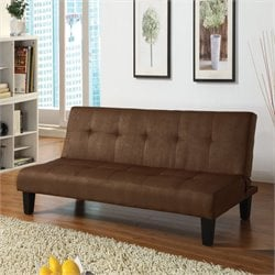 Acme Emmet Microfiber Adjustable Sofa in Chocolate