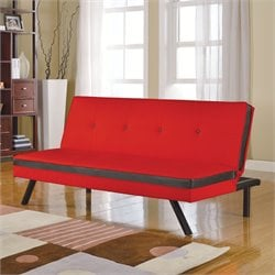 ACME Furniture Penly Futon in Red and Black