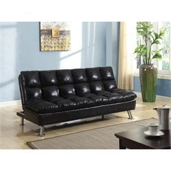 ACME Furniture Tayte Convertible Sofa in Black