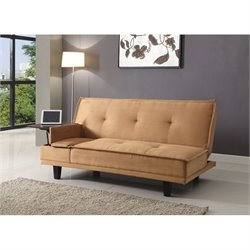 ACME Furniture Berkeley Fabric Convertible Sofa in Brown