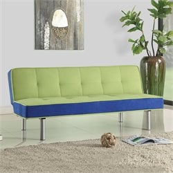 Acme Hailey Flannel Adjustable Sofa in Green and Blue