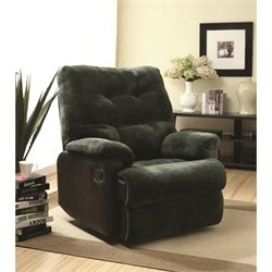 ACME Furniture Layce Glider Recliner in Olive Gray