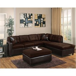 ACME Furniture Milano Leather 2 Piece Sofa Set in Chocolate
