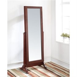 ACME Remiro Mirror Jewelry Armoire in Cherry