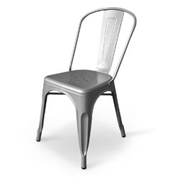 AEON Furniture Garvin-1 Dining Chair in Silver (Set of 4)