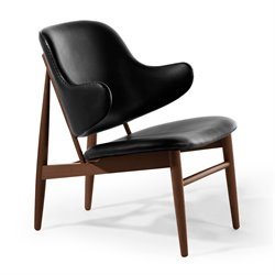 AEON Furniture Mina Accent Chair in Black and Walnut