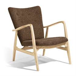 AEON Furniture Addison Accent Chair in Brown and Natural Ash
