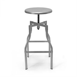 AEON Furniture Hugo Adjustable Swivel Bar Stool in Silver