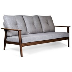 AEON Furniture Goodman Sofa in Walnut and Gray