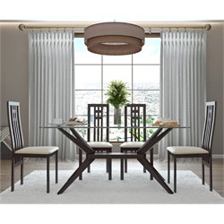 AEON Furniture Greenwich Dining Set in Coffee