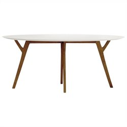 AEON Furniture Steve Dining Table in White and Ash