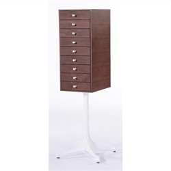 AEON Furniture Tower 9 Miniature Chest in Walnut and White