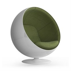 AEON Furniture Luna Lounge Dining Chair in White and Green
