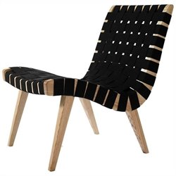 AEON Furniture Weave Lounge Chair in Natural and Black