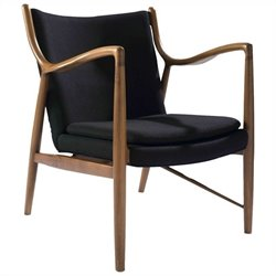 AEON Furniture Syracuse Lounge Chair in Walnut and Black