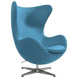 AEON Furniture Columbia Fiber Glass Egg Chair in Blue