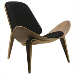 AEON Furniture Chesapeake Lounge Chair in Black and Walnut