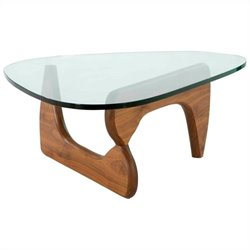 AEON Furniture Tokyo Coffee Table in Walnut and Clear