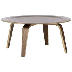AEON Furniture Marcus Round Coffee Table in Walnut