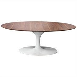 AEON Furniture Catalan Coffee Table in White and Walnut